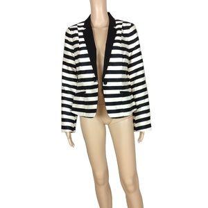 NWOT Worthington striped button front blazer